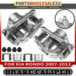 2pcs Front Left And Right Disc Brake Calipers With Bracket For Kia Rondo 2007-2012