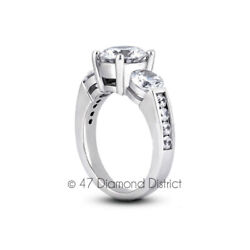 2.13 Ct F-si2 Round Natural Certified Diamonds 14k Gold Classic Engagement Ring