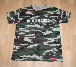 Metal Gear Solid 3 Snake Eater Rare Old Promo T-shirt Size L Ps2 Konami Xbox 360