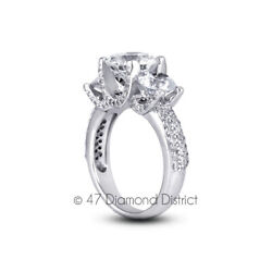 2.04 Ct I Vs2 Round Natural Diamonds 14k Gold Vintage Style Engagement Ring