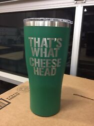 Packers 32oz Stainless Steel Growler Laser Etched That's What Cheese Head
