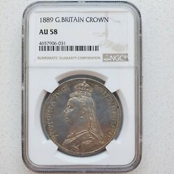 Great Britain Gold And Silver Sovereign 1889 Victoria Queen Jubile Ngc