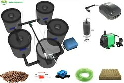 Recirculating Deep Water Culture Rdwc Hydroponic System5 Gallon [set Of 4]
