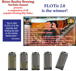 Flotit 2.0 No Beer Left Behind Floating Dip Tube With Double Filter Inlet Dfi
