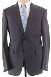 Nwt Suit Sz 56r 46r Us In Charcoal Blue Plaid Trofeo Comfort
