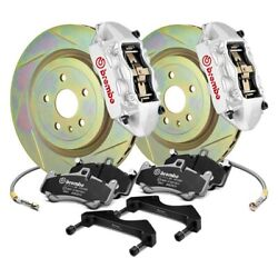 For Scion Fr-s 13-16 Brembo Gt Series Slotted 1-piece Rotor Front Big Brake Kit