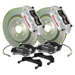 For Scion Fr-s 13-16 Gt Series Cross Drilled 1-piece Rotor Front Big Brake Kit