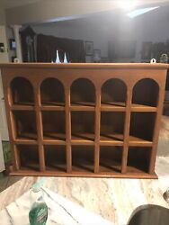 Vintage 3 Tier Solid Country Wood Display Shelf Curio Wall Hanging 32x 24