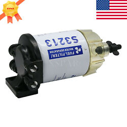 Us S3213 Boat Fuel Water Separator Marine For Mercury Yamaha Outboard 10 Micron