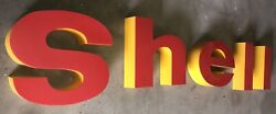 Shell Oil Gas Station Lighted Canopy Signs, C2000