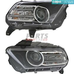 New Lh And Rh Hid Head Light 2013-14 Fits Ford Mustang Dr3z13008c Dr3z13008d Capa