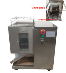3mm Shredded Meat Cutting Machine With Double Blade 110v Meat Slicer Process
