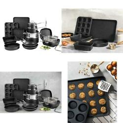 Baking Tool Cookware Set Diamond Infused Durable Nonstick Home Kitchenware 20-pc
