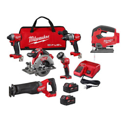 M18 Fuel 18-volt Lithium-ion Brushless Cordless Combo Kit 5-tool With Free Fue