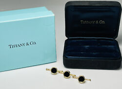 And Co 14kt Yellow Gold Recessed Onyx Set Of 3 Tuxedo Shirt Studs