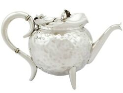Sterling Silver Teapot Antique Victorian 1885