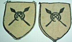 Formation Signs-original Embroidered 82nd West African Division Matched Pair