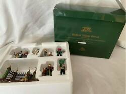 Department 56 A Christmas Carol Reading By Charles Dickens - Set Of 7 - Ltd Ed.