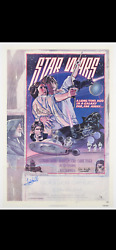 Star Wars Signed Style D One Sheet Movie Poster Psa Ah07028 Mark Hamill Fisher