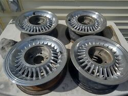 55 56 Cadillac Chrome Sabre Kelsey Hayes Wheels 15x6 5x5 Bolt Series 60s 60 1955