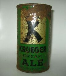 Old Krueger Cream Ale Flat Top Beer Can Newark, New Jersey Oi/irtp