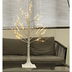 LED Easter Tree 60CM White Birch Tree Twig For Hanging Easter Egg Ornaments