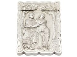 Antique Indian Silver Visiting Card Case 1850-1899 141g Height 1.1cm
