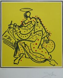 Salvador Dali 12 Knights Round Table Matthew Apostle Hand Signed Lithograph