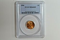 1996 1c Lincoln Penny Pcgs Ms66rd Business Strike