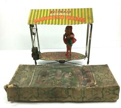 Antique Bestmaid Marionette Theatre Clockwork Wind Up Toy Made By Ck Japan