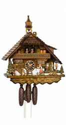 Cuckoo Clock Black Forest House The Peasant Girl Rings The Bell.. Ho 8680t New