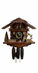 Cuckoo Clock Black Forest House With Moving Beer Drinkers And Mi.. Ho 86720t New