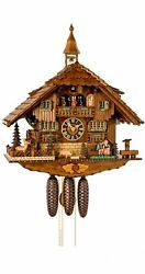 Cuckoo Clock Black Forest House With Moving Beer Drinkers And Mi.. Ho 86263t New