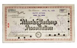 1925 Alaska Packers Association Stock Certificate Issued To Walter Sherman