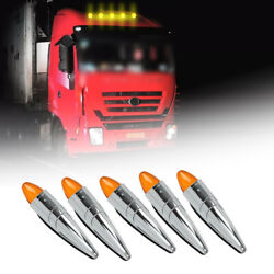5x Led Roof Running Light Cab Marker Top Lamp Truck Trailers Tractor Universal