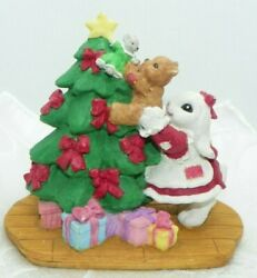 Patchville Bunnies Christmas Tree With Bunny A Time For Sharing Vtg 1997