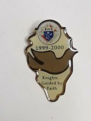 Knights Of Columbus K Of C Pin 1999 2000 Knights Guided By Faith Dove