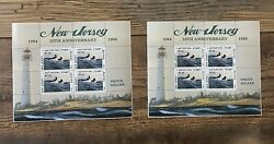 1993 New Jersey - State Duck Stamp Souvenir Sheets Matching Pair 1427