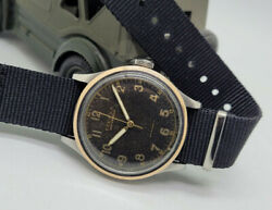 Very Rare 40and039s W.w.w. Large Eterna German Pilot Black Dial Manand039s Watch