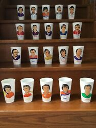 1973 7-eleven 7-11 Wha Slurpee Cups Complete Set Bobby Hull Gerry Cheevers Rare