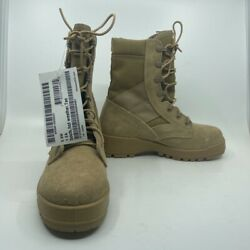 Odssey Mens Combat Military Boots Tan Suede Hot Weather Lace Up Usa 5 Ew New