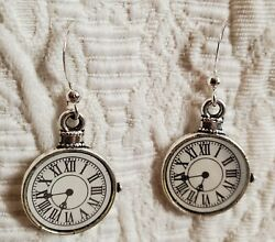 Dr. Who Handmade Stop Watch Earrings Nickel Free Free Shipping
