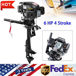 4 Stroke 6hp Gasoline Outboard Motor Boat Engine Brushless Motor W/ Air Cooling