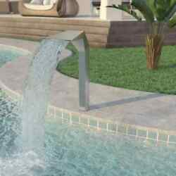 Garden Waterfall Pool Stainless Steel Fountain Cascade Swimming Pool Decor Pond