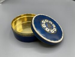 Rare Norway Art Deco J.tostrup Solid Silver And Guilloche Enamel Trinket Box 128g