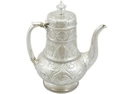 Antique Victorian Sterling Silver Coffee Pot London 1867