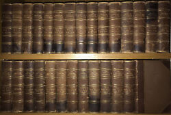 Leathermassive Antiquarian Victorian Encyclopedia 1883 Complete Set Gift Rare