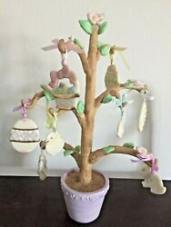 Lenox Easter Tree With 8 Gold Accented Ornamentsandnbsp