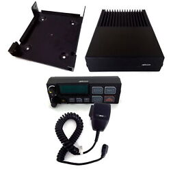 Ge Orion M/a-com Ericsson Radio With Control Head, Microphone And Mounting Bracket