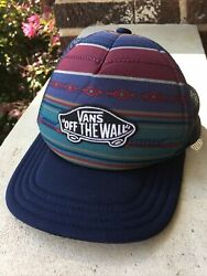 Vans Off The Wall Small Youth Classic Patch Trucker Hat Cap